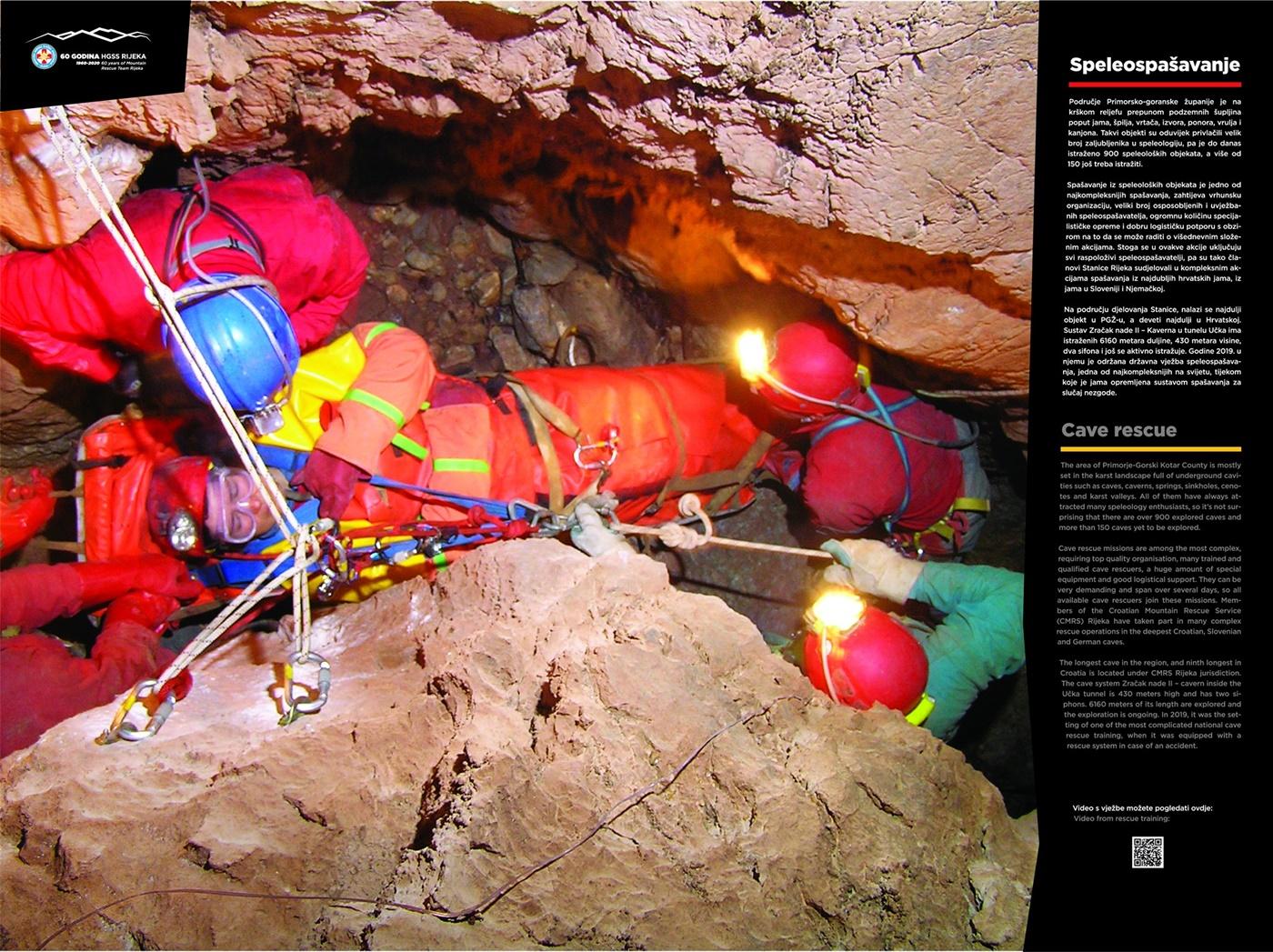 Speleoronilačko spašavanje (60 god. HGSS Rijeka - plakat 9/18)