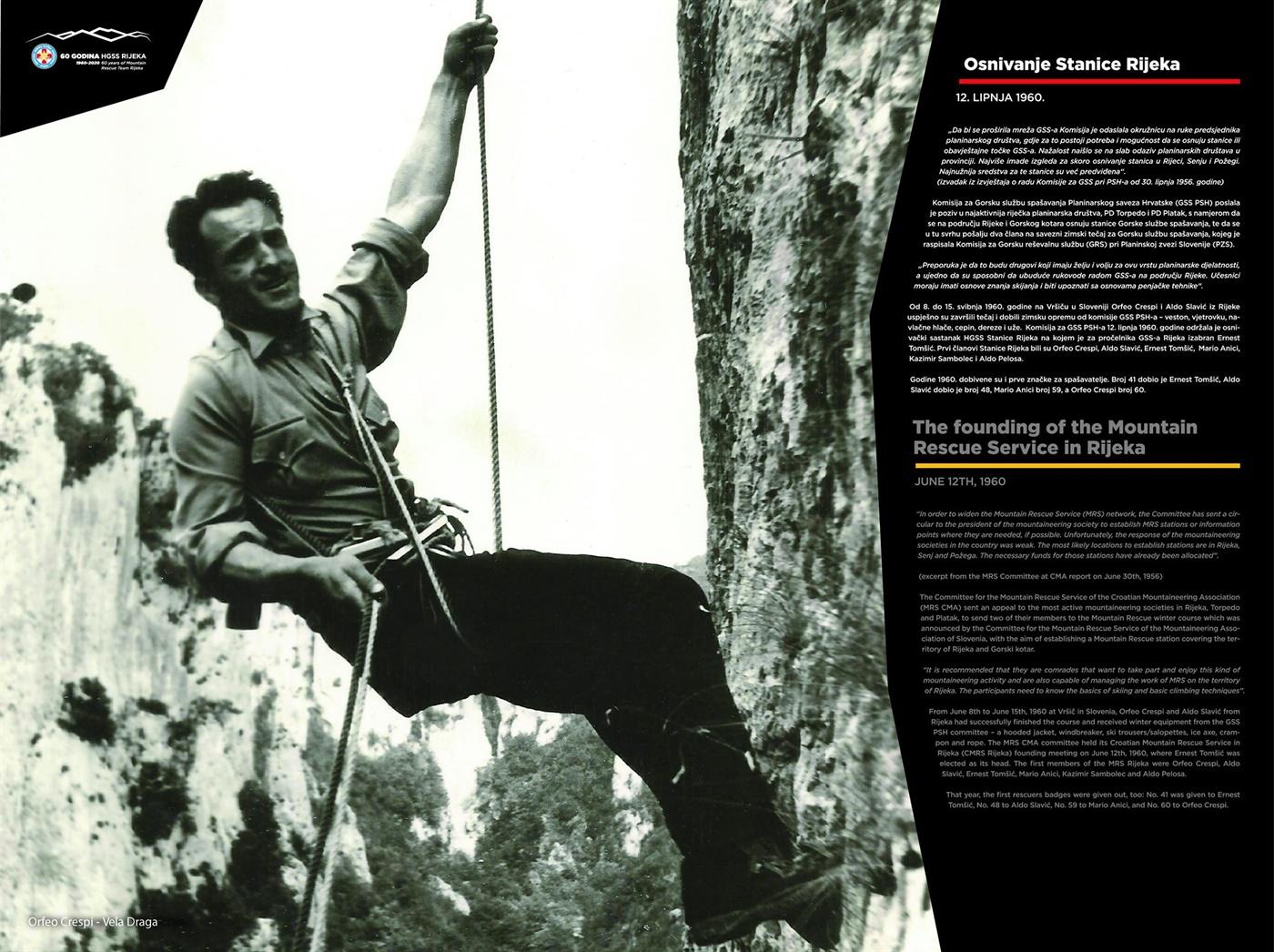 Osnivanje Stanice Rijeka,12. lipnja 1960. (60 god. HGSS Rijeka - plakat 2/18)