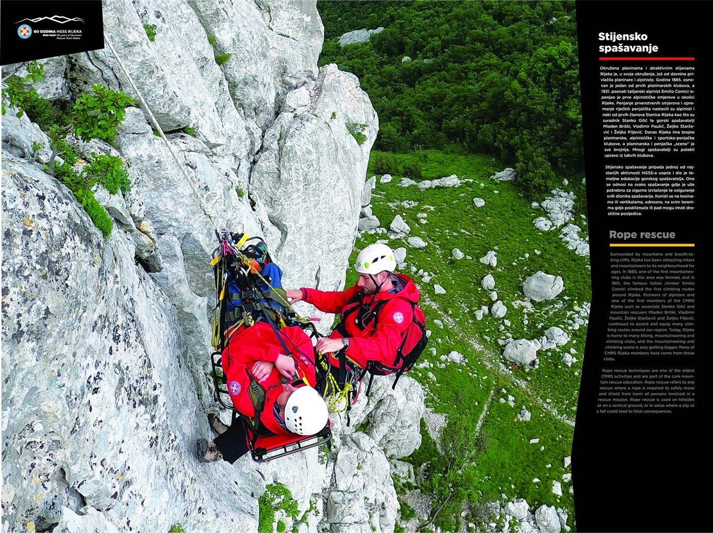 Stijensko spašavanje (60 god. HGSS Rijeka - plakat 6/18)