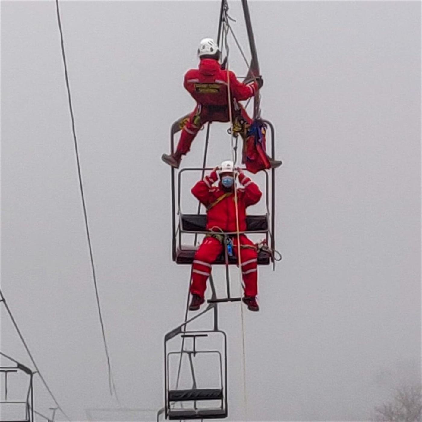 Vježba spašavanja sa žičare HGSS Stanice Rijeka