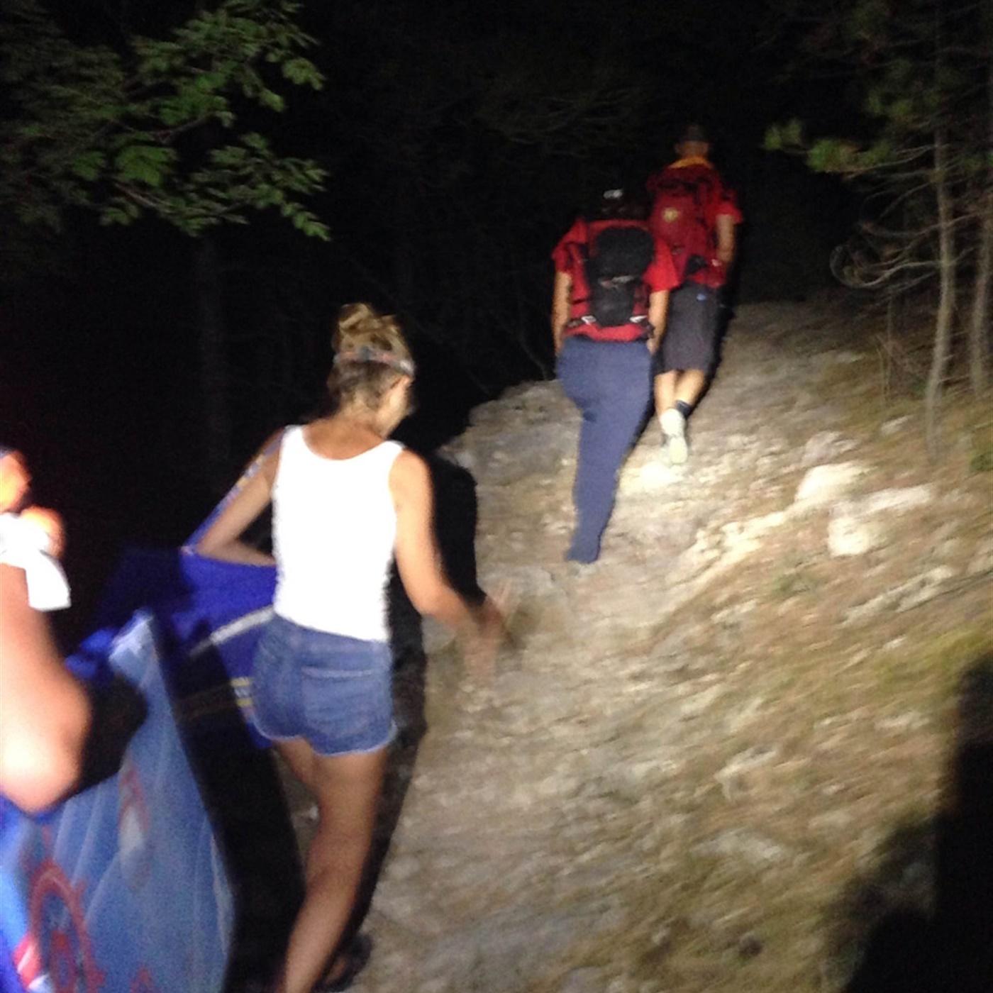 Spašeni izgubljeni turisti.